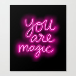 You Are Magic neon Canvas Print