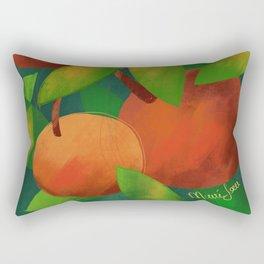 Tangerine Love Rectangular Pillow