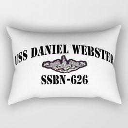USS DANIEL WEBSTER (SSBN-626) BLACK LETTERS Rectangular Pillow