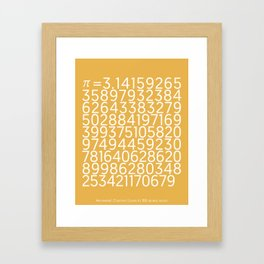 Pi Framed Art Print