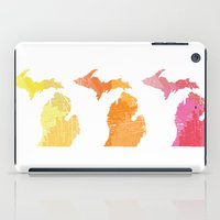 michigan iPad Cases featuring Michigan by Aubrey Kemme Design