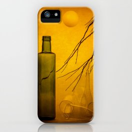 Still life with falling balls iPhone Case
