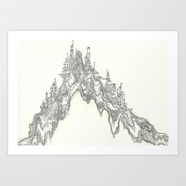 Hill People Art Print