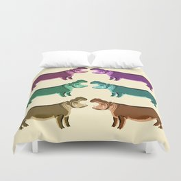 Hippo Friends Duvet Cover