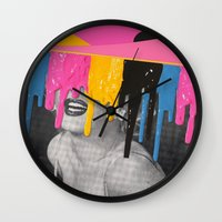 celebrity Wall Clocks featuring Celebrity Syrup by Eugenia Loli