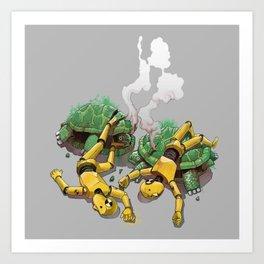 Crash test Art Print