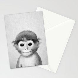 Baby Monkey - Black & White Stationery Cards