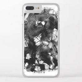 Black art Clear iPhone Case