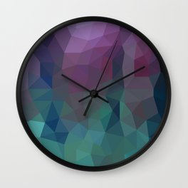 Shades of Amethyst Low Poly Wall Clock
