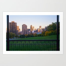 the City in a Canvas (2) Art Print