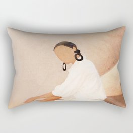 Lady in Waiting Rectangular Pillow