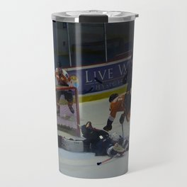 Dive for the Goal - Ice Hockey Travel Mug