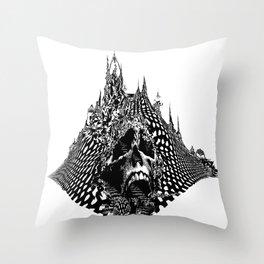 Skull Mountain Throw Pillow