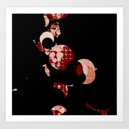 Half Moon Abstract Patterns Art Print