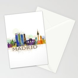 Madrid City Skyline HQ Stationery Cards