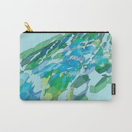 Polygonal lake with pines Carry-All Pouch