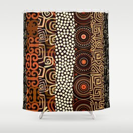 Geometric African Pattern Shower Curtain