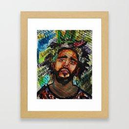 Rap,hiphop,lyric poster,shirt,cool wall art,fan art,music inspired Framed Art Print