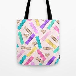 Retro Bandages Tote Bag