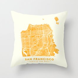 San Francisco City Map 03 Throw Pillow