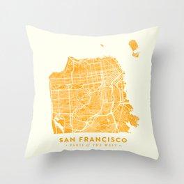 San Francisco City Map 03 Throw Pillow