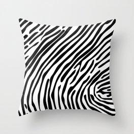 Skin of a zebra Throw Pillow