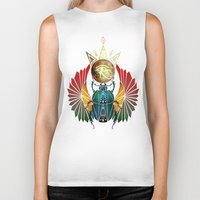 egyptian Biker Tanks featuring egyptian beetle by Manoou