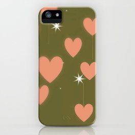 Lovely hearts pattern iPhone Case
