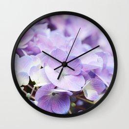 Light Purple Hydrangea Wall Clock