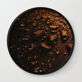 Amber Liquid Wall Clock