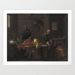 Nicolas Poussin - The Testament of Eudamidas Art Print