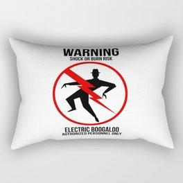 Electric Boogaloo Warning Rectangular Pillow