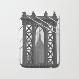 Empire State Building Photography Black & White Empire State Building Contest finalist Bath Mat