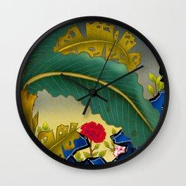 Minhwa: Plantain Garden at Night Wall Clock