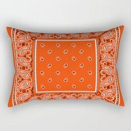 Classic Orange Bandana Rectangular Pillow