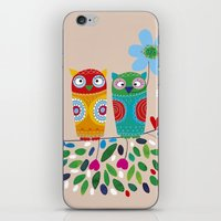 owls iPhone & iPod Skins featuring owls by Marianna Jagoda