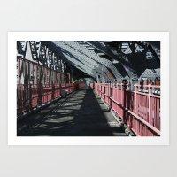 rileigh smirl Art Prints featuring Williamsburg Bridge by Rileigh Smirl