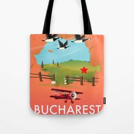 Bucharest Romania vacation map Tote Bag