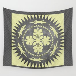 Alligator hibiscus medallion Wall Tapestry