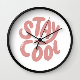 Stay Cool Vintage Pink Wall Clock