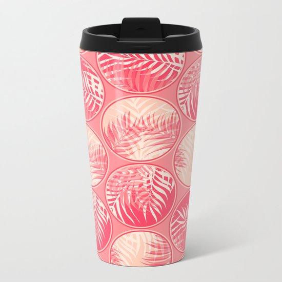 Pink Tropical Coins #society6 #decor #buyart Metal Travel Mug