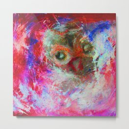 Abstract Owl   #society6 #decor #buyart Metal Print