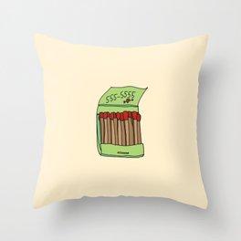 Matchbook Love Throw Pillow