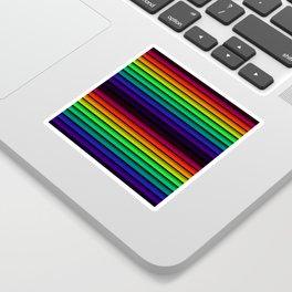 Spectrum - Rainbow Stripes - Colorful - Manafold Art Sticker