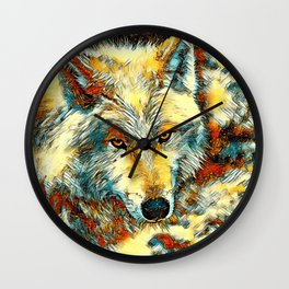AnimalArt_Wolf_20170603_by_JAMColorsSpecial Wall Clock