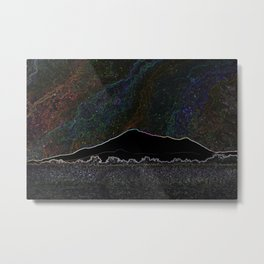Neon Mountain Starlight Metal Print