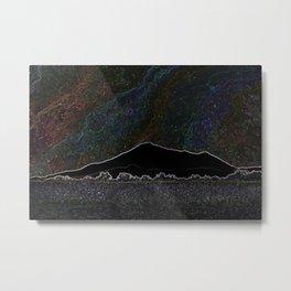 Neon Mountain Starlight Metal Print