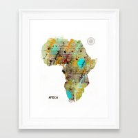africa Framed Art Prints featuring Africa by bri.buckley