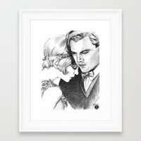 the great gatsby Framed Art Prints featuring The Great Gatsby by Ilaria De Rosa