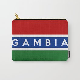 gambia country flag name text Carry-All Pouch